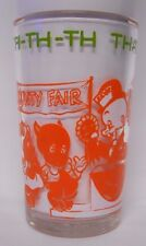 Vintage 1974 Welch's Looney Tunes Jelly Jar Glass-That's All Folks