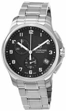 Victorinox Swiss Army Officers Black Dial Stainless Steel Mens Watch - 241592