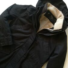 NWT Abercrombie & Fitch RARE Men's 2 in 1 Sherpa Parka Coat Jacket Dark Gray S