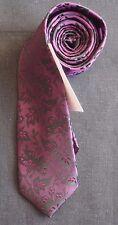 William Hunt corbata seda tejida Nuevo en Negro Mate Brillo Marrón cabezas de flores nuevo con etiquetas