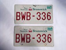 1998 NEW BRUNSWICK Vintage License Plate PAIR #BWB-336