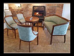 Art Deco, 1800 Bist1850, Sofa, Tisch Und 3 Stühle/Sessel Antik/Empire ,