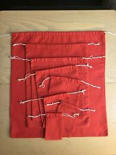 4x6 inch Red Double Drawstring Christmas bags~25,50,100,200