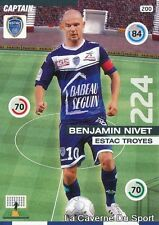 200 BENJAMIN NIVET FRANCE ESTAC TROYES CARD ADRENALYN 2016 PANINI
