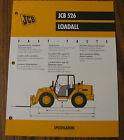 JCB 526 Loadall Spec Sheet Brochure Literature