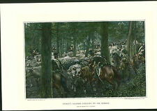 1897 Napoleon Bonaparte Marbot's Soldiers Foraging On The Retreat COLOR PRINT