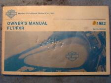 Harley FXR FLT 1982 owners instructions manual FLH FXRS FXRT FXRP 1983 EP10250