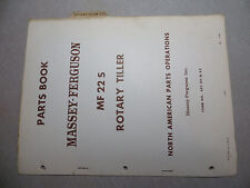 Massey Ferguson 22 S Rotary Tiller Parts Book