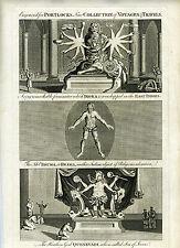 1794 Genuine Antique print of Several Religious Idols of India, Portlock