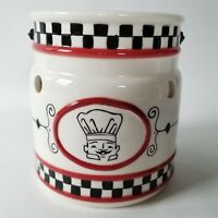 Yankee Candle Tart Warmer Burner Mark Cook Chef Red White Black Checkered Wire