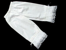 1800's Civil War Victorian White Pantaloons Bloomers with Lace and Ribbon