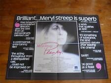 Plenty ~ Original Quad Poster 1985 ~ Meryl Streep / Charles Dance / Ian McKellen
