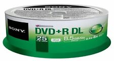Sony 25DPR85SP 25pk Dvd+r Double Layer Spindlesupl
