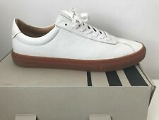 JOHN LEWIS 'FINNEY' NEW WHITE RRP £90 LEATHER 10 44 TRAINERS SNEAKERS BOXED