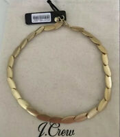 NWT JCrew Oval Necklace Brushed Gold Classic