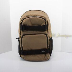 NWT Vans Strand Skateboard Pack Backpack Laptop Bag VN0A46NCMD2 Dark Beige Black