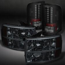 2007-2013 Silverado Smoked Headlights +Lumiled Led Tail Lights 07-13 set