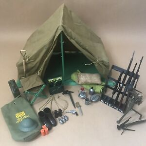Vintage 1970's Action Man Doll Figure Parts Weapons Job Lot #1 Tent Operation
