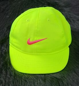 Toddler Nike Neon Green Reflective Hat pink  Swoosh✔ Shipped Promptly 💨