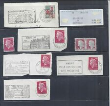 Group of 5 Postal History items with France Stamps & cancels