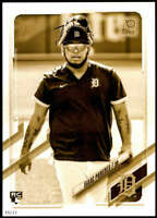 Isaac Paredes 2021 Topps 5x7 Variation Short Prints Gold #65 /10 Tigers