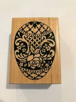 1994 PSX DECORATED EGG Wood Mounted Rubber Stamp Petaluma CA F-1203