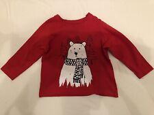 Kinder Jungen Sweat-Shirt  Pullover Eisbär Größe 86/92
