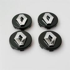 4x60mm RENAULT Black Wheel Center Caps Logo Emblem Badge Hub Caps Rim Caps