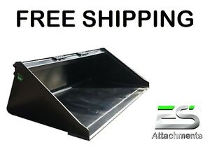 """ES NEW 84"""" SMOOTH BUCKET FOR SKID STEER QUICK ATTACH LOADER - FREE SHIPPING"""