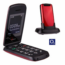 TTfone Star Big Button Flip Pay as you go Pre pay PAYG Mobile Phone O2 Red