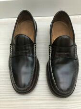 Gucci Mens Camaleon Brown Leather Penny Loafer Size 8.5