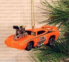 The Judge '69 PONTIAC GTO 1969 Dragster CHRISTMAS ORNAMENT Orange Hot Rod XMAS