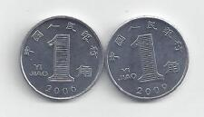 2 - 1 JIAO COINS.PEOPLE'S REPUBLIC OF CHINA.2006 & 2009