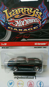 Hot Wheels Larry's Garage '63 Corvette noire   (CP30)