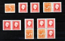 Nederland Stockkaart Combinaties uit Postzegelboekje 14 Postfris