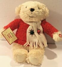 """ADORABLE HALLMARK Jingle MUSICAL CHRISTMAS BEAR~~PLAYS """"JINGLE BELLS"""" NWT"""