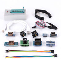 XGecu TL866II Plus USB Programmer ICSP EEPROM FLASH AVR MCU GAL SPI +10 Adapter