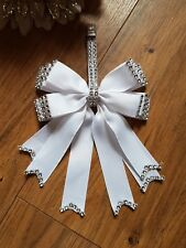 Pram charm girl boy  romany bling white clip