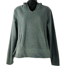 Women's REI Gray V Neck Hoodie Small Hoodie Pullover Sweatshirt Italian fabric