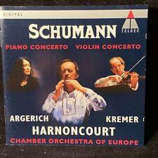 SCHUMANN Violin / Piano Ctos - KREMER, ARGERICH, HARNONCOURT - TELDEC CD 1994