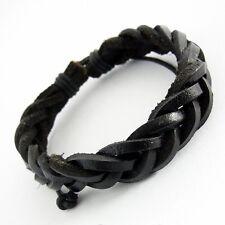 Herren Lederarmband Wickelarmband Damen Surferarmband schwarz leather bracelet
