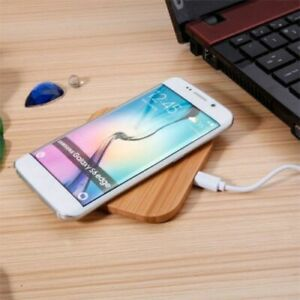 Universal Qi Wireless Charger Wood Bamboo for Apple iPhone X 8 5V 5W 2000mA 1pcs