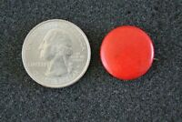Vintage St. Louis Button Company Plain Blank Red Small Pin Pinback Button #22232