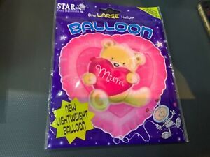 Large helium mum balloon with ribbon and weight new freepost