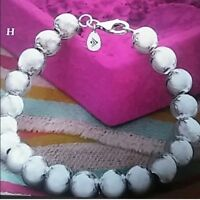 Silpada Sterling Silver Rich Abundance Ball Bead Bracelet  B2414 Lobster clasp