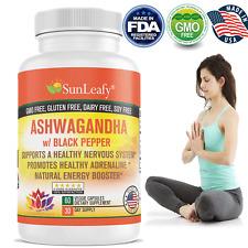 Organic Ashwagandha High Potency Natural Anti-Stress Made In Usa
