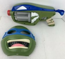 Teenage Mutant Ninja Turtle Deluxe Leonardo Kids Mask Dart Blaster Gun Halloween