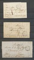3 lettres Corps Expéditre d'Italie/Qer Général, càd 1ère Expédition Rare X5098
