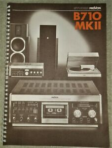 **ORIGINAL** Revox B710 MKII Cassette Deck Operating Instructions