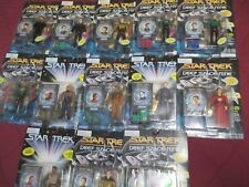13 STAR TREK DS9 FIGURES SPACE CAP RIKER Q O'BRIEN BASHIR ROM ZEK JAKE SISKO ETC